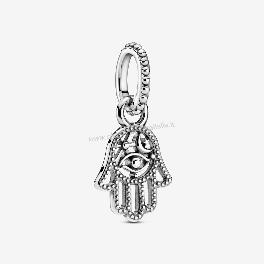 Accessori Pandora Protective Hamsa Mano Dangle Charm